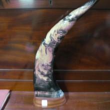 Corne sculptée