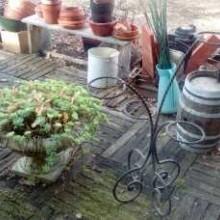 Pots de fleurs en exterieur
