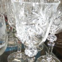 verres ciselés en cristal